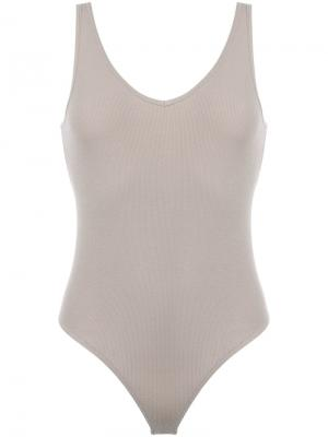 Stretch bodysuit Atm Anthony Thomas Melillo. Цвет: телесный