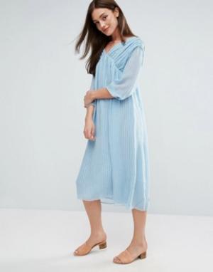MiH Jeans Платье миди Petaluma. Цвет: синий