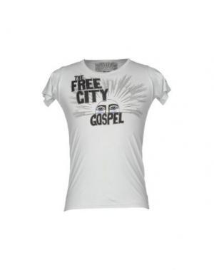 Футболка FREE CITY. Цвет: светло-серый