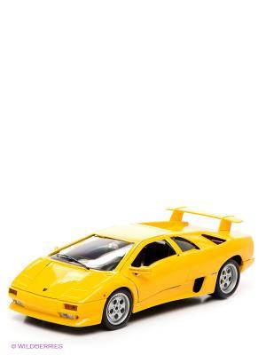 Машинка Gold LAMBOR. DIABLO Bburago. Цвет: желтый