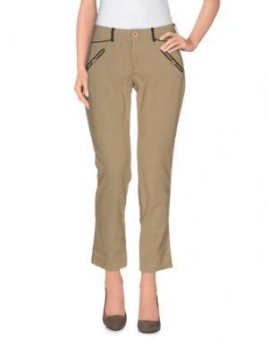 Повседневные брюки SWILDENS. Цвет: бежевый