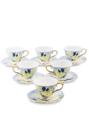 Чайный н-р на 6 перс. Фиор Дель Аморе (Pavone) Pavone. Цвет: синий
