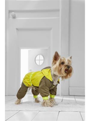 Дождевик для собак Nothing but Love. Цвет: коричневый, желтый