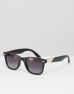 Jeepers Peepers Квадратные солнцезащитные очки. Цвет: черный