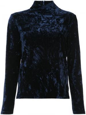 Блузка с высокой горловиной Ronny Kobo. Цвет: синий