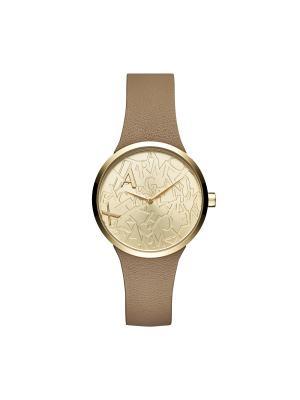Часы Armani Exchange. Цвет: светло-коричневый, золотистый