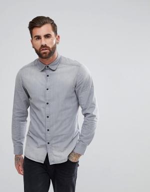 G-Star Серая джинсовая рубашка Landoh. Цвет: серый