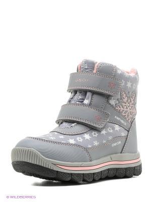 Спортивные ботинки GEOX. Цвет: серый