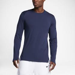Мужская баскетбольная футболка с длинным рукавом  Elite Nike. Цвет: синий