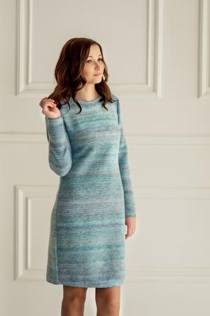 Приталенное платье с круглым вырезом Woolhouse. Цвет: голубой