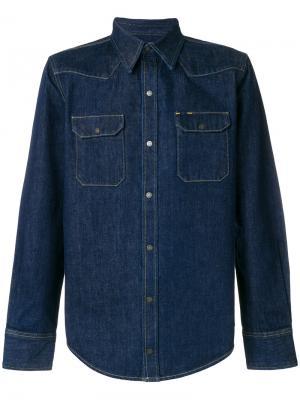 Джинсовая рубашка Calvin Klein 205W39nyc. Цвет: синий