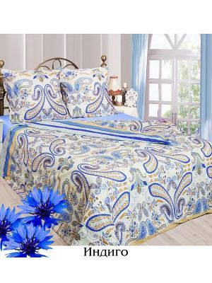 Постельное белье Семейный р. Sova and Javoronok. Цвет: синий, голубой, светло-бежевый