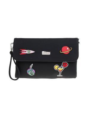 Клатч Bags Garden. Цвет: черный, розовый, фиолетовый