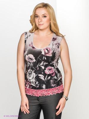 Топ T&M. Цвет: темно-серый, бледно-розовый, розовый, светло-серый
