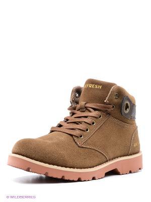 Ботинки Refresh. Цвет: темно-коричневый