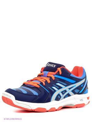 Волейбольные кроссовки Gel-Beyond 4 ASICS. Цвет: синий, серебристый, коралловый