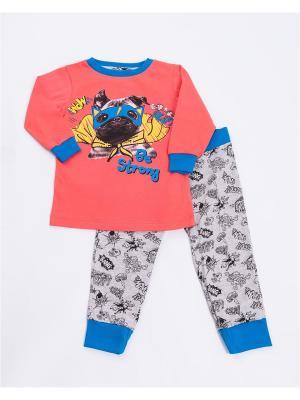 Пижама: лонгслив, брюки Mark Formelle. Цвет: синий, красный, серый
