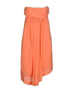 Платье до колена E_GO' SONIA DE NISCO. Цвет: оранжевый