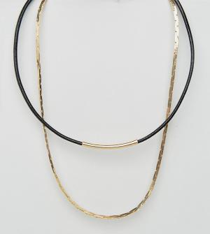 DesignB London 2 ожерелья. Цвет: золотой