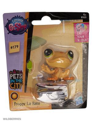 Игрушка Зверюшка Littlest Pet Shop. Цвет: розовый, желтый, прозрачный, фиолетовый