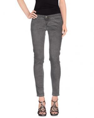 Джинсовые брюки TAKE-TWO. Цвет: свинцово-серый
