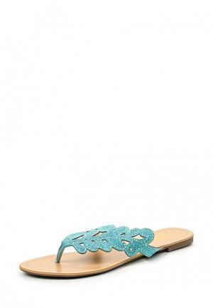 Шлепанцы Inario. Цвет: голубой