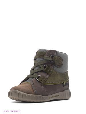 Ботинки ECCO. Цвет: темно-коричневый, хаки