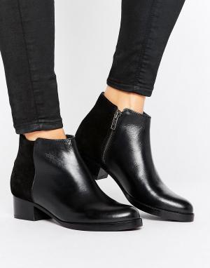 Hudson London Кожаные ботинки на среднем каблуке H by. Цвет: черный