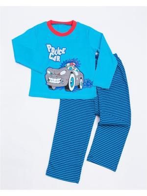 Пижама: лонгслив; брюки Mark Formelle. Цвет: синий, серый, голубой, красный, белый