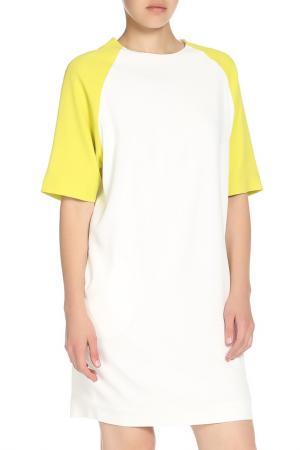 Платье MSGM. Цвет: белый