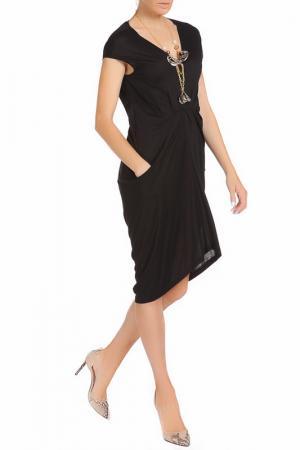 Платье Nude. Цвет: черный