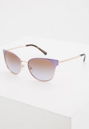 Очки солнцезащитные Michael Kors. Цвет: фиолетовый