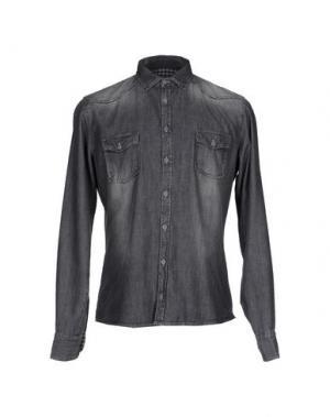 Джинсовая рубашка DOOA. Цвет: черный