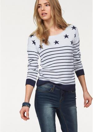 Пуловер AJC. Цвет: белый