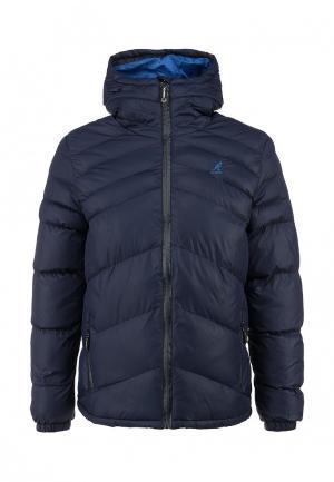 Куртка утепленная Kangol. Цвет: синий