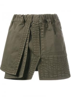 Многослойные шорты Nº21. Цвет: зелёный
