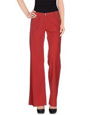 Повседневные брюки MER DU NORD. Цвет: красный