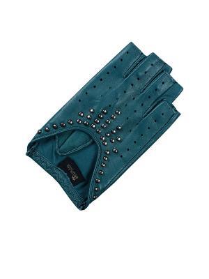 Перчатки ESMEE. Цвет: бирюзовый