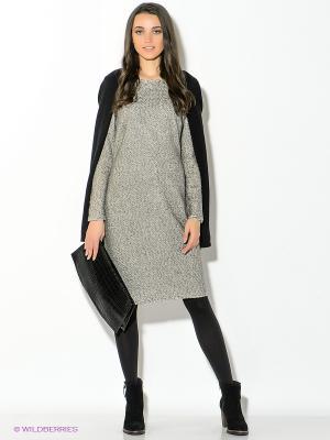Платье Oodji. Цвет: серый меланж
