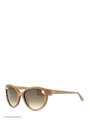 Солнцезащитные очки MO 725S 04 MOSCHINO. Цвет: бежевый