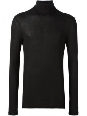 Облегающая толстовка с отворотной горловиной Tom Rebl. Цвет: чёрный