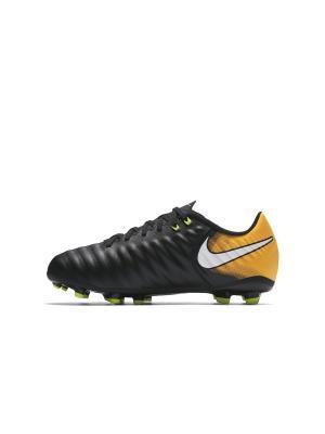 Бутсы JR TIEMPO LIGERA IV FG Nike. Цвет: черный, белый, оранжевый