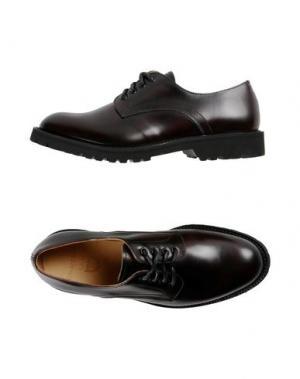 Обувь на шнурках EDWA. Цвет: баклажанный