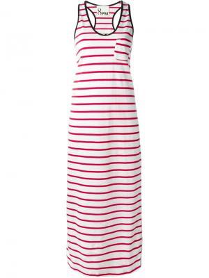 Платье в полоску 8pm. Цвет: белый