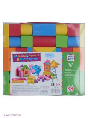 Мягкий блочный конструктор 38 деталей Kribly Boo. Цвет: красный, оранжевый, желтый, зеленый