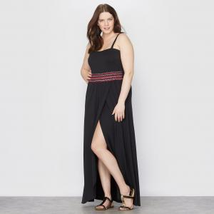 Платье длинное TAILLISSIME. Цвет: черный
