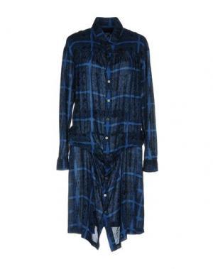 Платье до колена ZUCCA. Цвет: синий