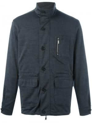 Легкая куртка Canali. Цвет: серый