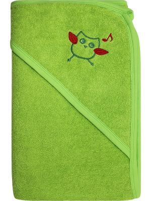 Полотенце Nice cat. Цвет: зеленый, коричневый, красный