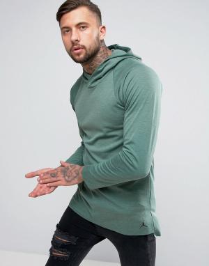 Jordan Худи без застежки с рукавами реглан Nike Lux 834541-340. Цвет: зеленый